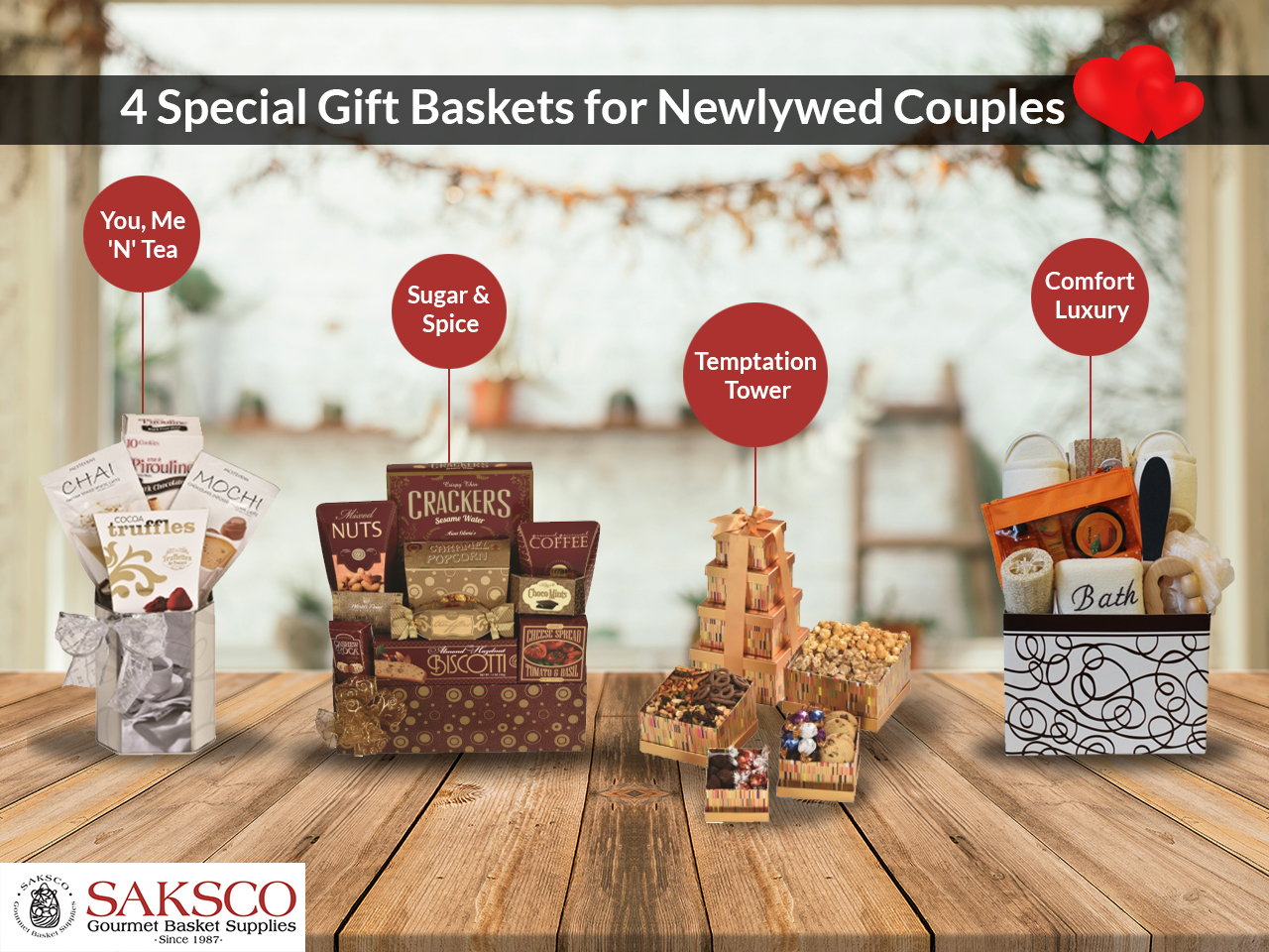 4 special gift baskets for newly married couples