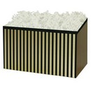 Pinstripe Large Basket Box 6/cs