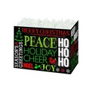 Holiday Chalkboard Large Basket Box 6/cs