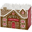 Gingerbread House Large Basket Box 6/cs