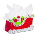 Christmas Sleigh Large Basket Box 6/cs