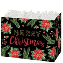 Merry Christmas Small Basket Box 6/cs