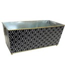 Large Black Metal Planter w/ Handle (17