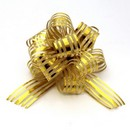 Organza Pull Bow Gold Small 20/cs