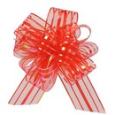 Organza Pull Bow Red Large  20/cs