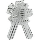 Organza Pull Bow Silver Large 20/cs