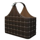 Brown Pleather w/Silver Buttons Magazine Holder (17