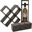 Black Pleather Wine Holder (Approx. 14