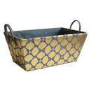 Grey/Gold Storage Basket (15