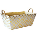 White/Gold Storage Basket (15