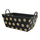 Black with Gold Dots Storage Basket (15