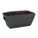 Brown Polypropylene Storage Basket (Approx. 15
