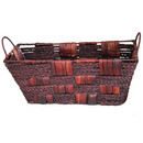 Seagrass and Corn Husk Basket with Iron Frame 15 12/cs