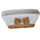 PP braid basket with bowknot 13'' 12/cs