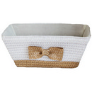 PP braid basket with bowknot 15'' 12/cs