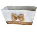 PP braid basket with bowknote 17'' 12/cs