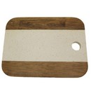 Acacia/Marble Cutting & Serving Tray (11