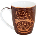 Brown Mug with Coffee Cup Design 13 oz 36/cs