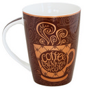 Brown Mug with Coffee Cup Design 17 oz 36/cs