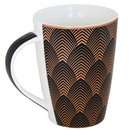 Black Mug with Art-Deco Design 17 oz 36/cs