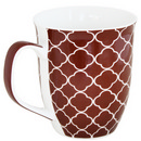 Brown Mug with Tiles/Clouds Design 17 oz 36/cs