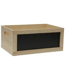 Wooden Chalkboard Crate Natural 10/cs