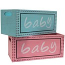 Baby Wooden Crates Asstd (Pink/Blue) 12/cs