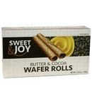 Sweet Joy Butter & Cocoa Wafer Rolls 16/100g/3.53 oz