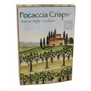 Focaccia Crisps Tuscan Style Crackers Large 12/170g/6oz