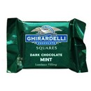 Ghirardelli  Dark Chocolate w/White Mint Filling Squares (Green) 50 /11g/.53oz