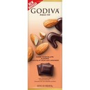 Godiva  Dark Chocolate Almond Tablet Bar 10/90g/3.1 oz